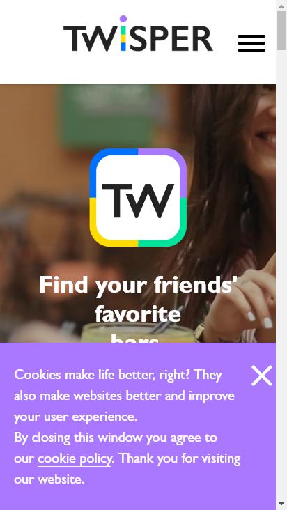 Screenshot mobile - https://twisper.com/