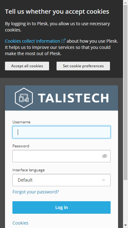 Screenshot mobile - https://sv1.talistech.cloud/login_up.php?success_redirect_url=%2F