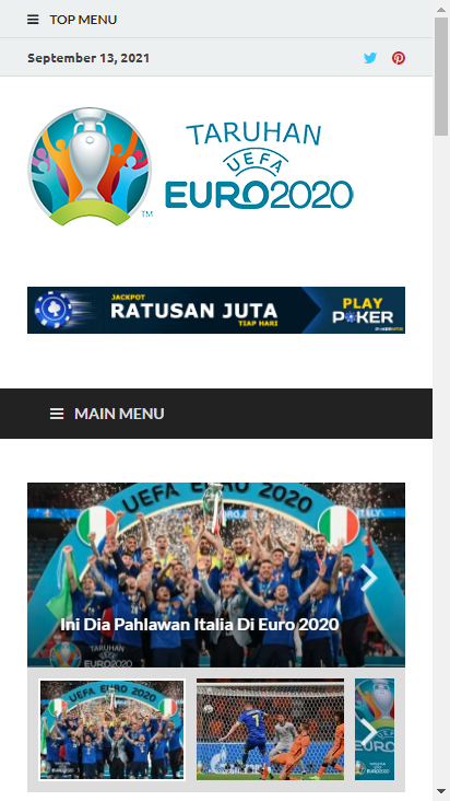 Screenshot mobile - https://taruhaneuro2020.com/