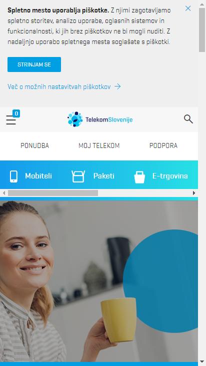Screenshot mobile - https://www.telekom.si/zasebni-uporabniki