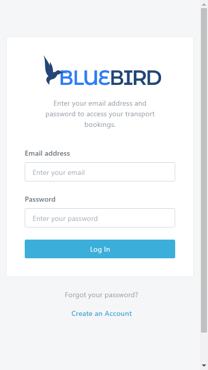 Screenshot mobile - https://teleperformance.bluebird.siberia.co.za/login