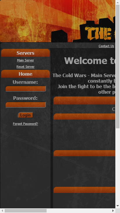 Screenshot mobile - https://www.thecoldwars.net/