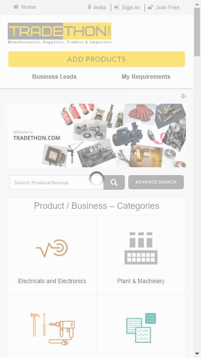 Screenshot mobile - https://www.tradethon.com/