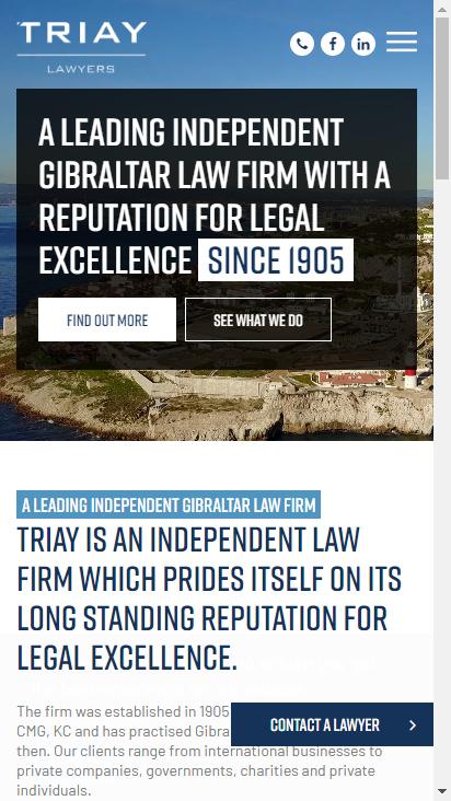 Screenshot mobile - https://www.triay.com/