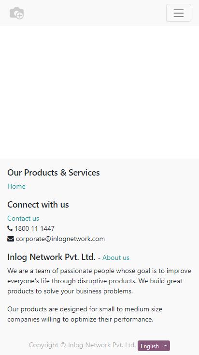 Screenshot mobile - https://uat.inlognetwork.co.in/