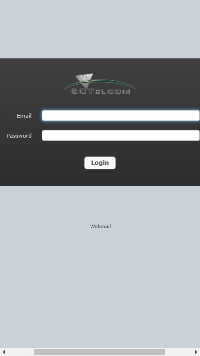 Screenshot mobile - https://userportal.sctelcom.net/