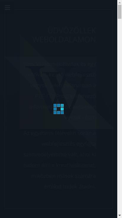 Screenshot mobile - https://vvebfejlesztes.hu/