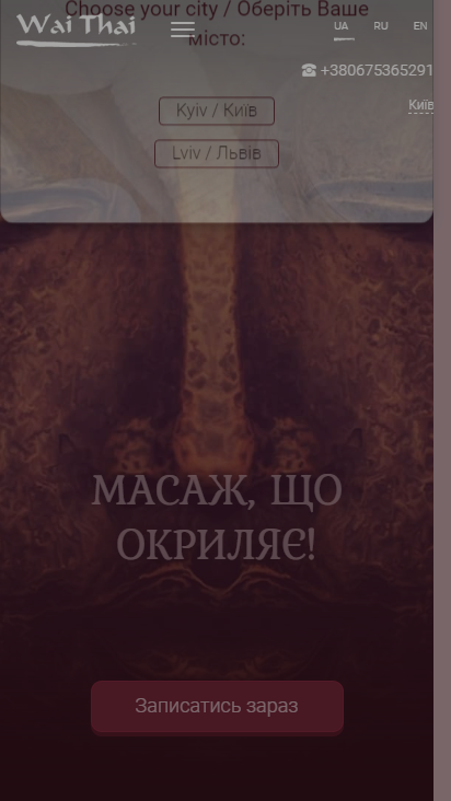 Screenshot mobile - https://waithai.ua/