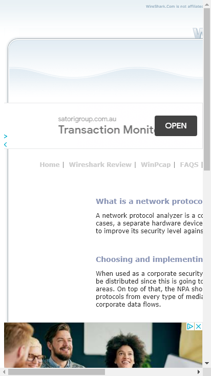 Screenshot mobile - https://wireshark.com/