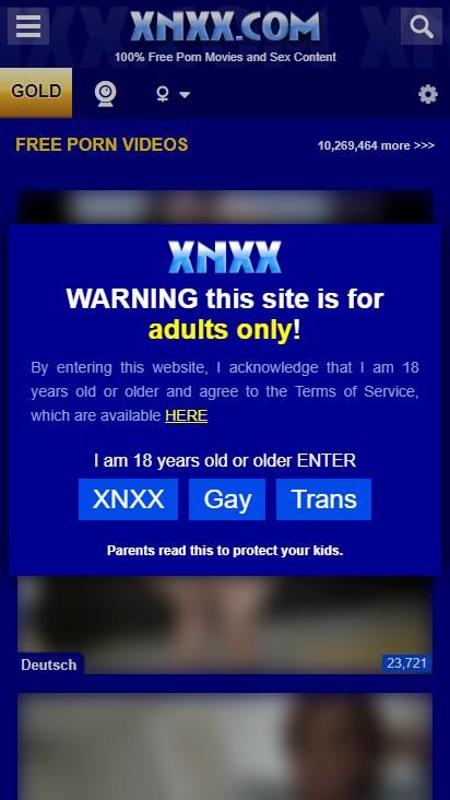 Screenshot mobile - https://www.xnxx.com/