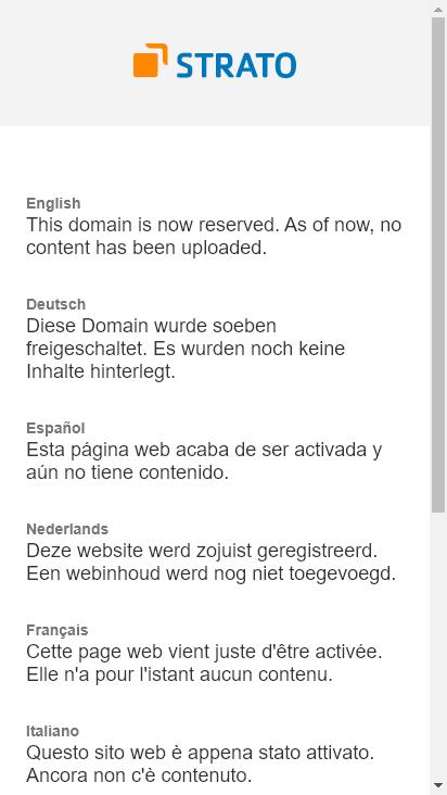 Screenshot mobile - https://ypscloud.de/